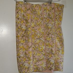 Light Pink & Golden Yellow Floral - •CATO•   Skirt